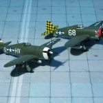 Republic P-47D-15-RA Thunderbolt, 61 FS, 56 FG and Republic P-47D-10 Thunderbolt, 318 FS, 325 FG